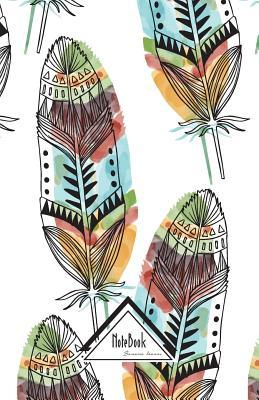 Bohemian Hippy Hipster Feathers Small Pocket Notebook