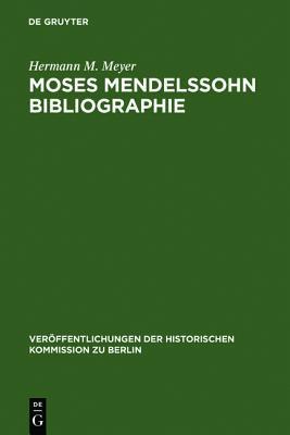 Moses Mendelssohn Bibliographie