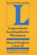 Encyclopedic Muret-Sanders Dictionary German English