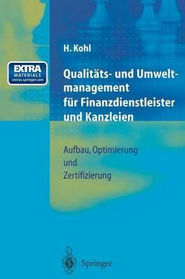 Qualitäts- Und Umweltmanagement Für Finanzdienstleister Und Kanzleien