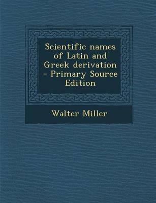 Scientific Names of ...