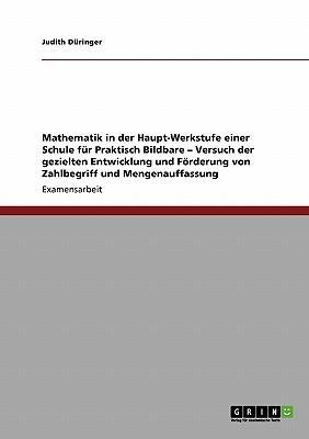 Mathematik in der Haupt-Werkstufe einer Schule für Praktisch Bildbare - Versuch der gezielten Entwicklung und Förderung von Zahlbegriff und Mengenauffassung