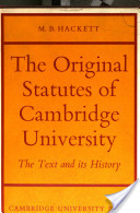 The Original Statutes of Cambridge University