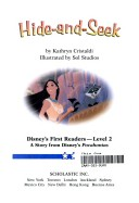Disneys First Readers Pocohantas Hide-And-Seek