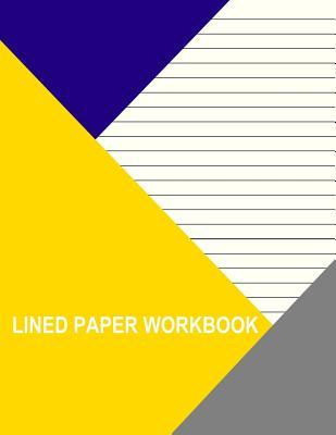 Yellow With Wide Black Lines Lined Workbook