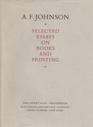 Selected Essays on Books and Printing