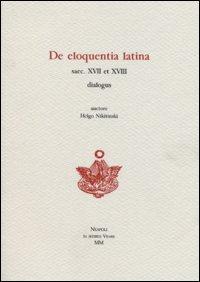 De eloquentia latina saec