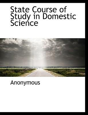 State Course of Study in Domestic Science