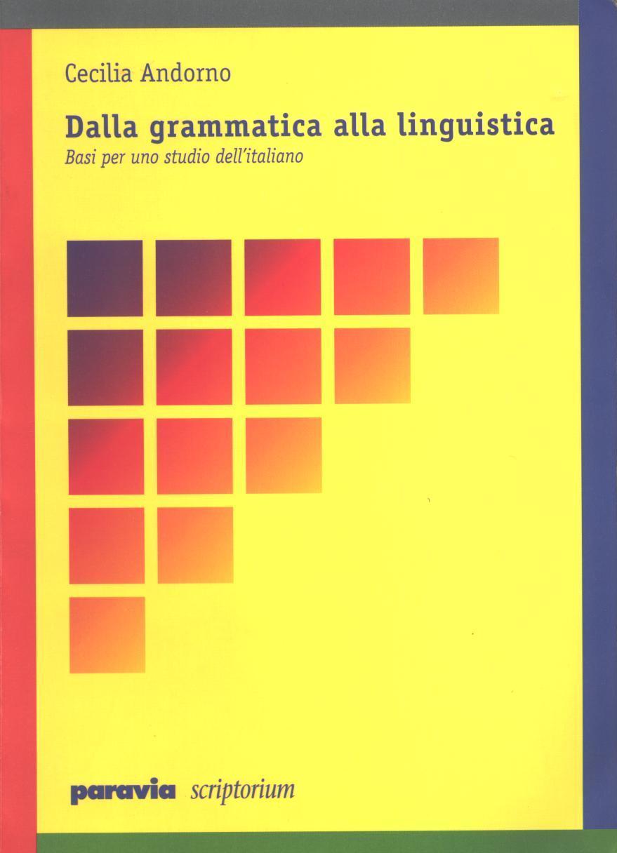 Dalla grammatica alla linguistica