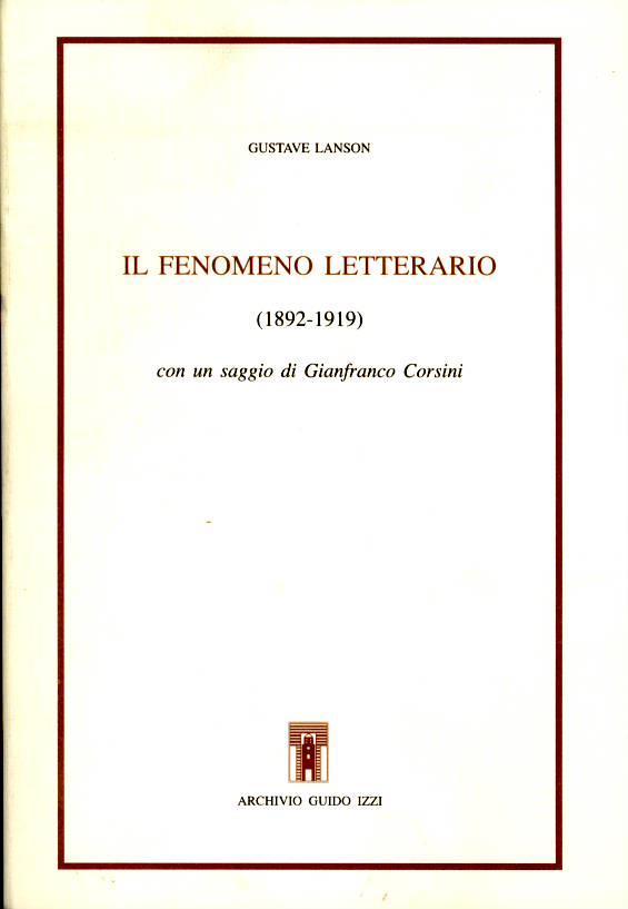 Il fenomeno letterario (1892-1919)