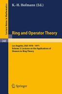 TULANE UNIVERSITY RING AND OPERATOR THEORY YEAR, 1