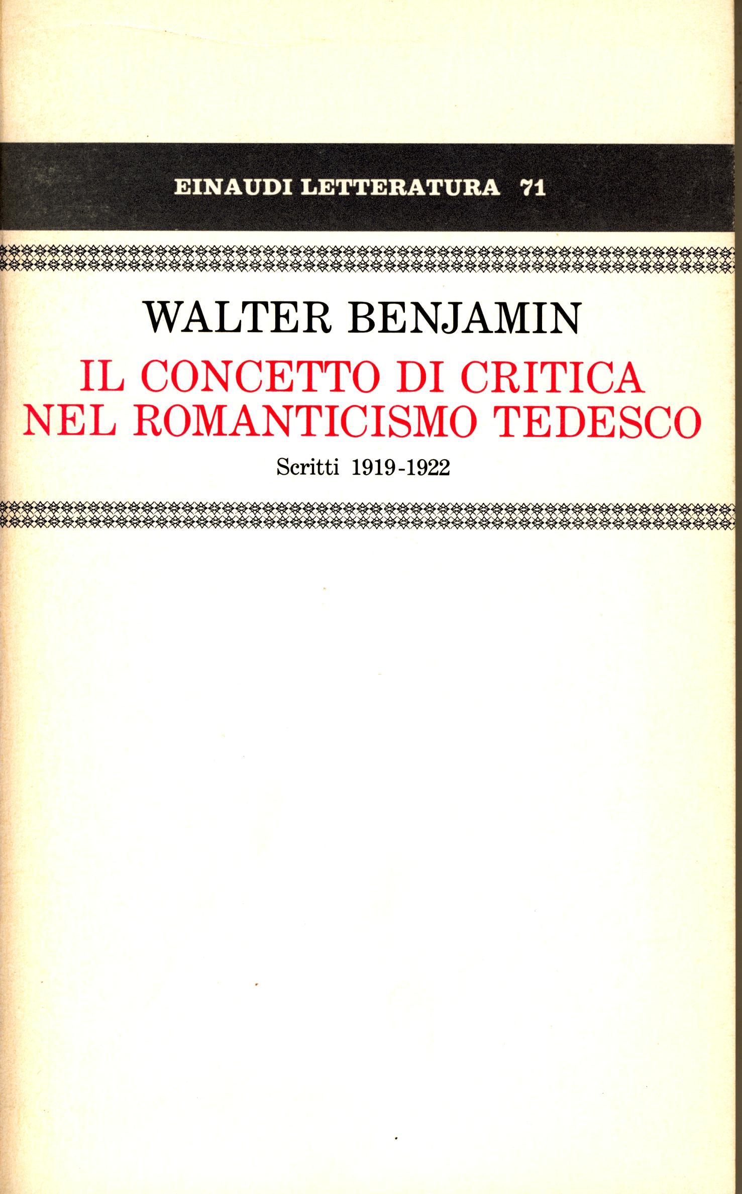 Il concetto di critica nel romanticismo tedesco