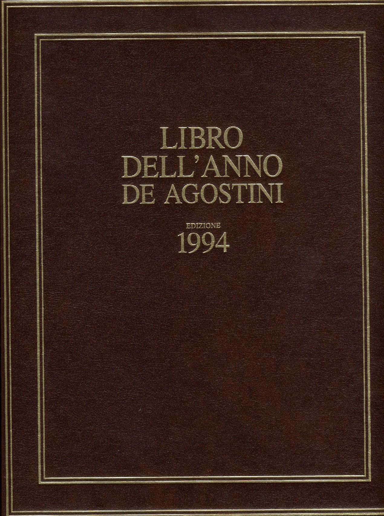 Libro dell'anno De Agostini Edizione 1994