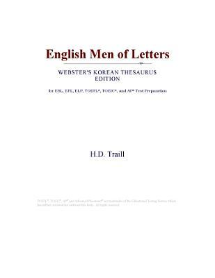 English Men of Letters (Webster's Korean Thesaurus Edition)