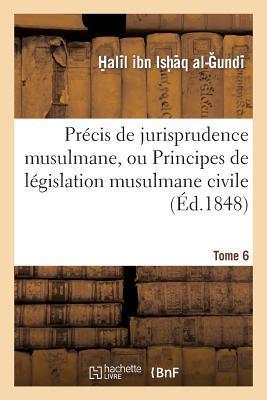 Precis de Jurisprudence Musulmane, Ou Principes de Législation Musulmane Civile et Religieuse. T. 6