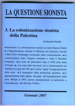 La questione sionista - Vol. 3