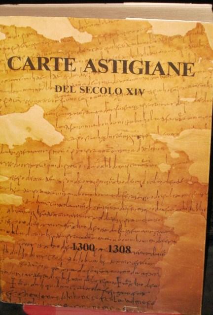 Carte astigiane del secolo XIV (1300-1308)