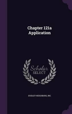 Chapter 121a Application