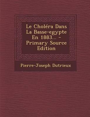 Le Cholera Dans La Basse-Egypte En 1883. - Primary Source Edition