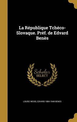 FRE-REPUBLIQUE TCHECO-SLOVAQUE