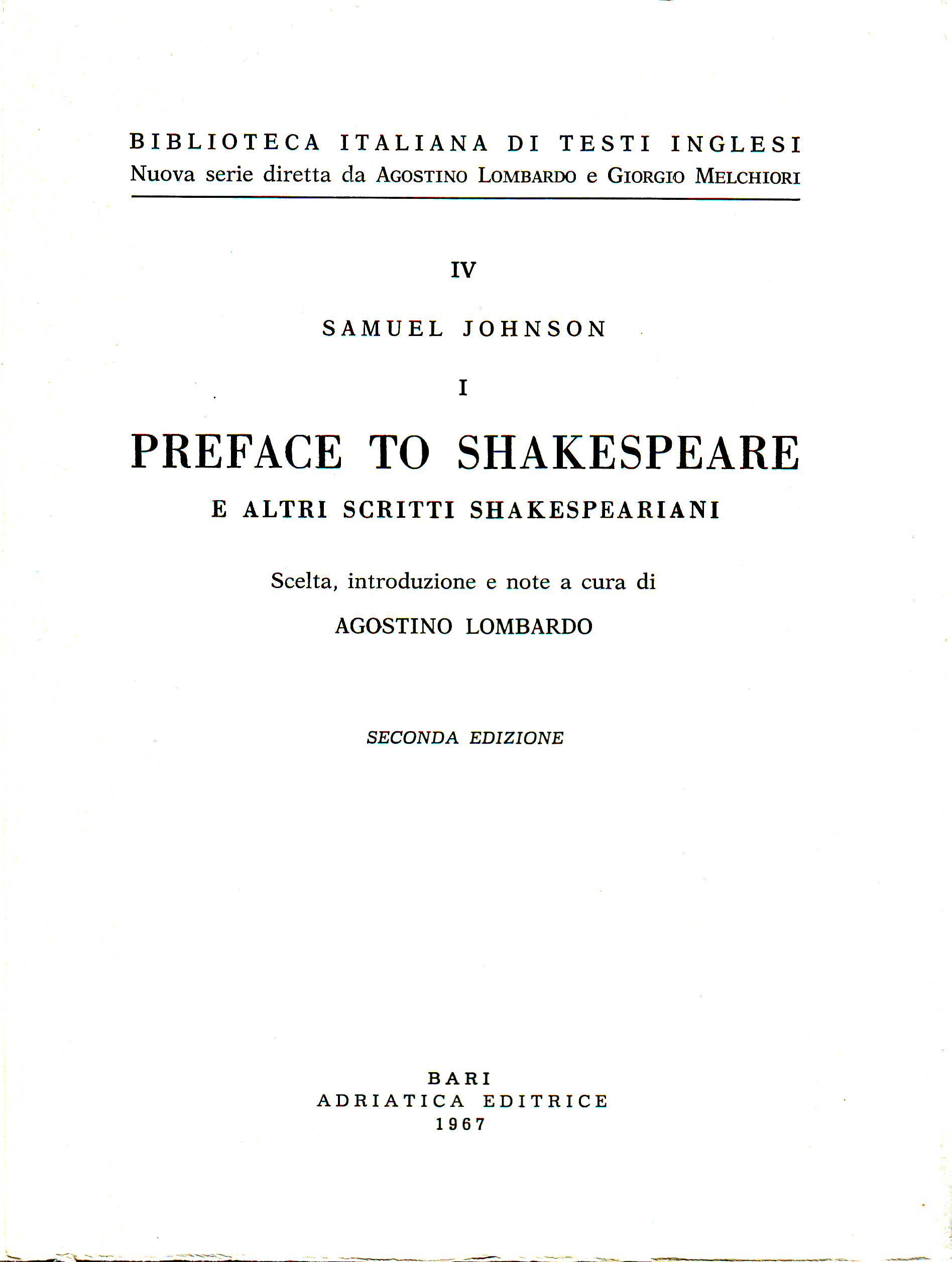 Preface to Shakespea...