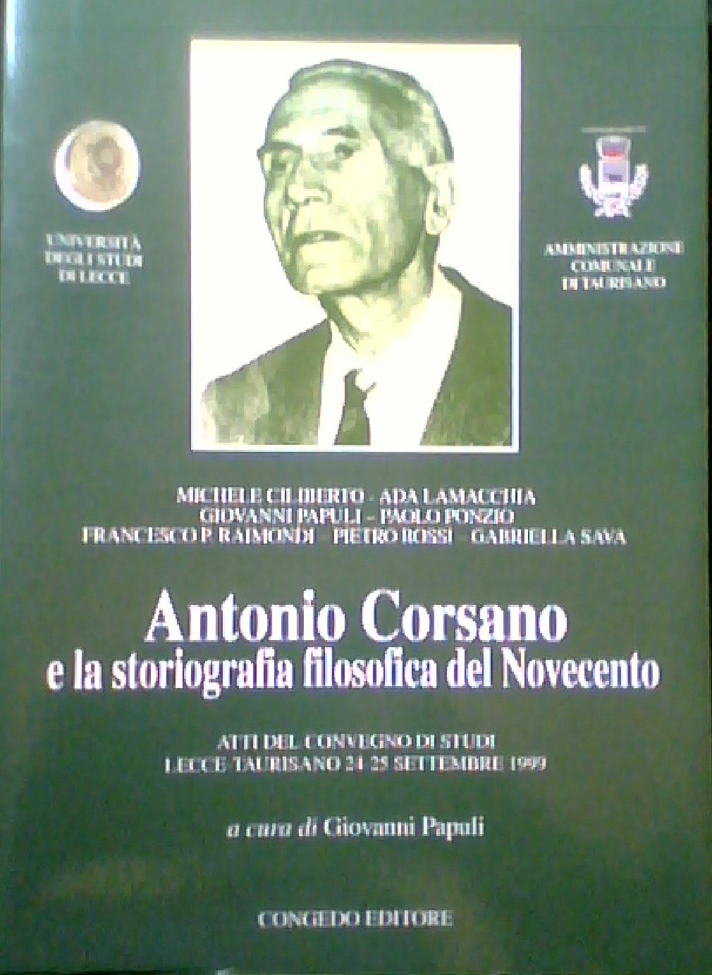 Antonio Corsano e la...
