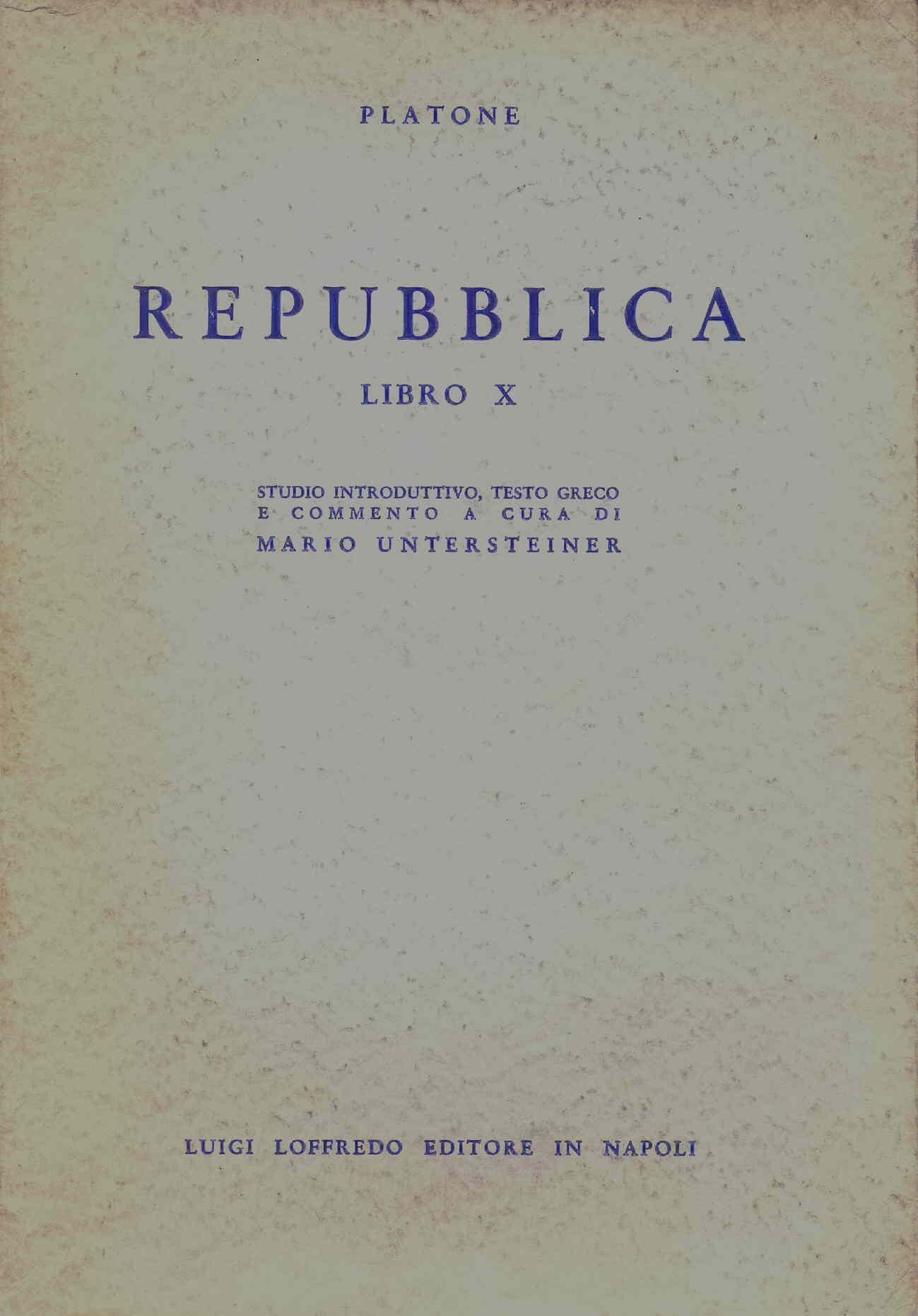 Repubblica - Libro X