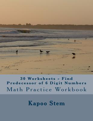 30 Worksheets - Find Predecessor of 6 Digit Numbers