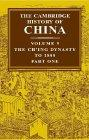 The Cambridge History of China, Volume 9, Part One