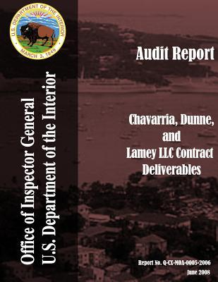 Chavarria, Dinne, and Lamey Llc Contract Deliverables