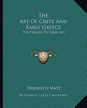 The Art of Crete and Early Greece