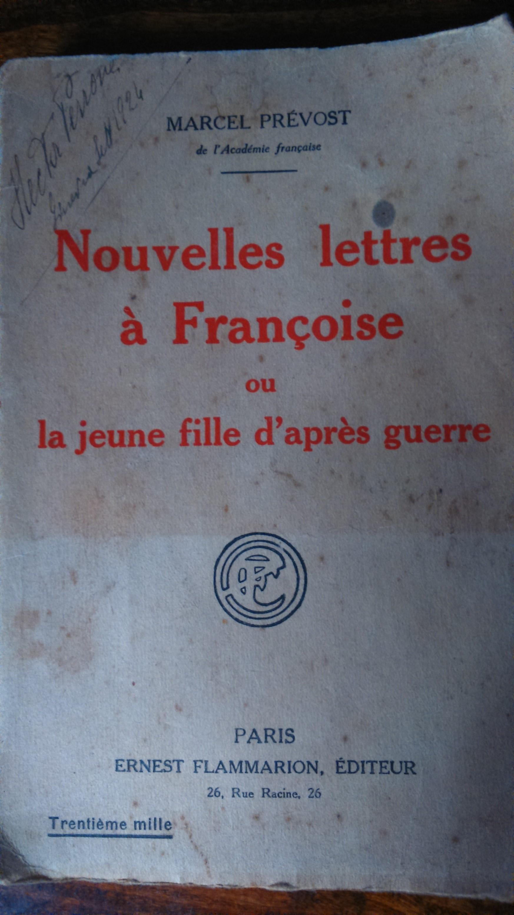 Nouvelles lettres à Françoise
