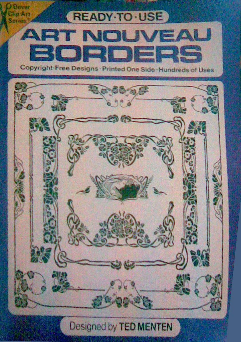 Ready-to-Use Art Nouveau Borders