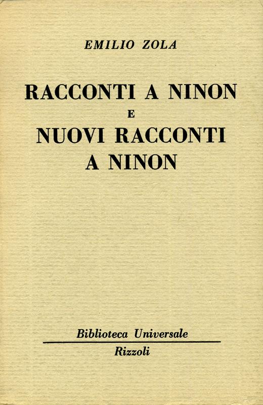 Racconti a Ninon e Nuovi racconti a Ninon