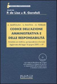 Codice dell'azione amministrativa e delle responsabilità. Con CD-ROM