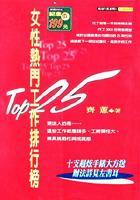 Top25女性熱門工作排行榜