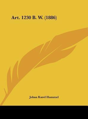 Art. 1230 B. W. (1886)