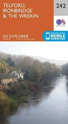 OS Explorer Map (242) Telford, Ironbridge and the Wrekin