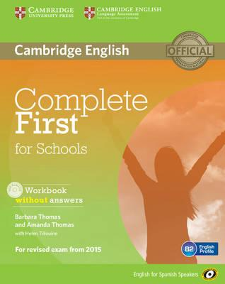 Complete First for Schools for Spanish Speakers Workbook without Answers with Audio CD
