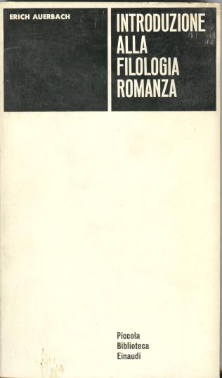 Introduzione alla filologia romanza