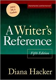 Writer's Reference 5e with 2003 MLA Update & Exercise CD-ROM