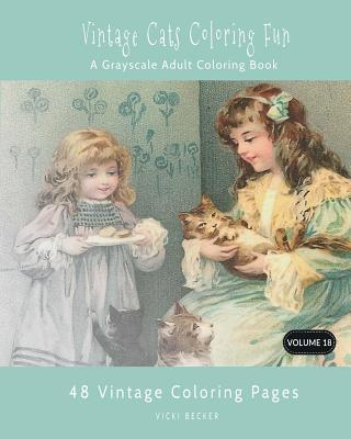 Vintage Cats Coloring Fun