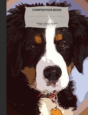 Bernese Mountain Dog Composition Notebook, Wide Ruled