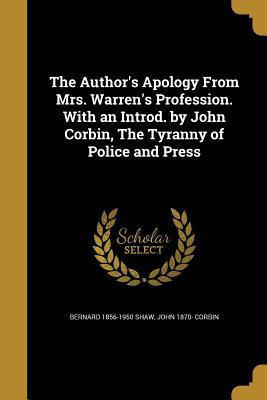 AUTHORS APOLOGY FROM MRS WARRE