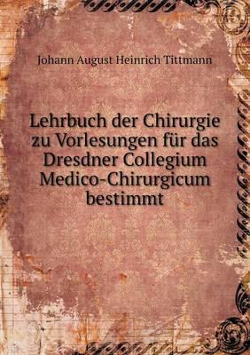 Lehrbuch Der Chirurg...