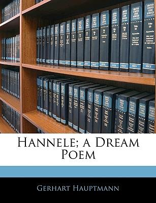 Hannele; A Dream Poem