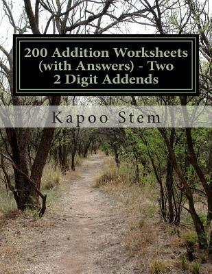200 Addition Worksheets With Answers - Two 2 Digit Addends