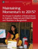 Maintaining Momentum Towards the Mdgs