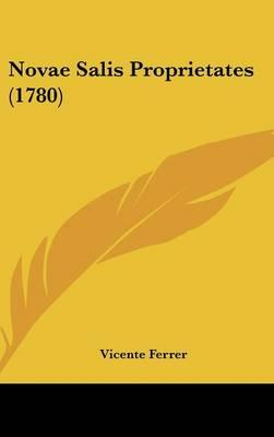 Novae Salis Proprietates (1780)