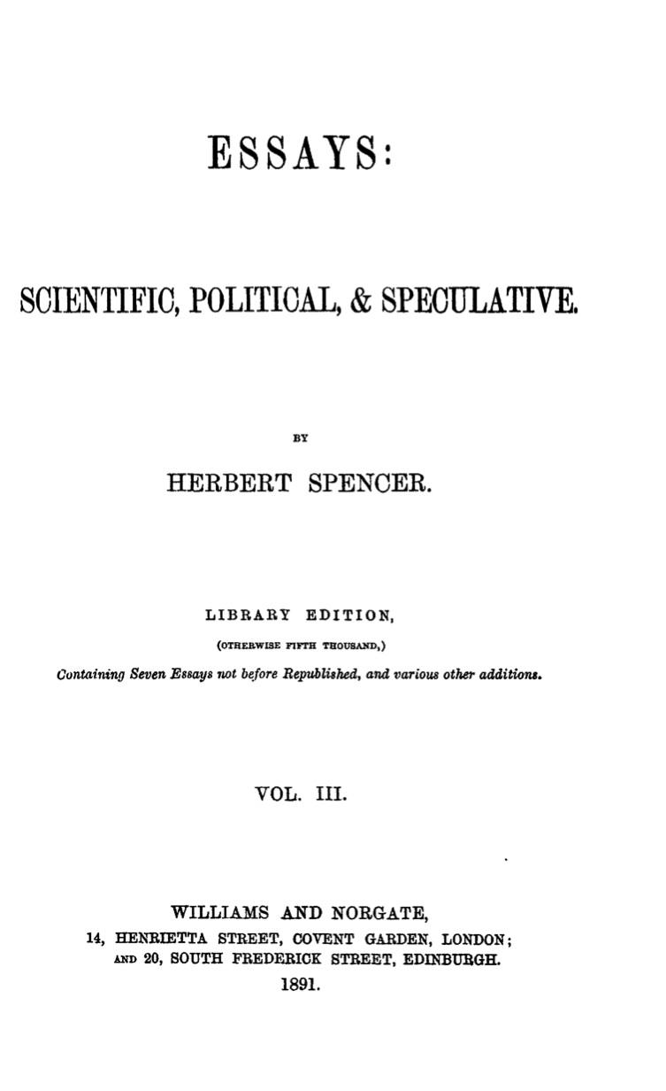 Essays, Vol. III